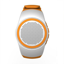Vinmori Sport Mini Bluetooth Speaker Smart Watch Hands-free call With Self-timer Anti-Lost Alarm TF Card FM Radio Music White