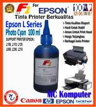 F1 Ink For Epson L Series Photo Cyan 100 ml