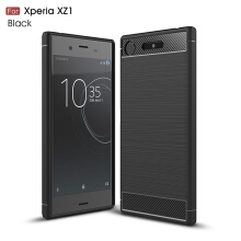 Smatton Case hp Sony Xperia XZ1 Luxury Shockproof Case Carbon Fiber For Soft TPU Full Protect Ultra Thin Case shell