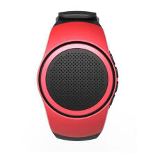 Vinmori Sport Mini Bluetooth Speaker Smart Watch Hands-free call With Self-timer Anti-Lost Alarm TF Card FM Radio Music Red