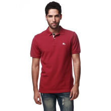 BURBERRY Raspberry Check Placket Polo