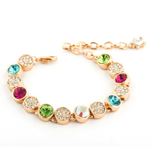 【Global Top Mall】Gelang Berlian Berwarna-warni