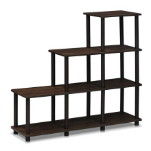 FUNIKA x FURINNO 16107WN/BR - 3-2-1 Space Shelf Walnut Coklat