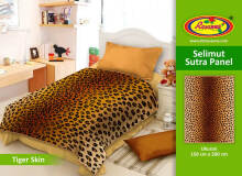 Selimut Rosanna Sutra Panel 150x200cm Sun Flower - Red