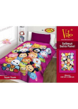 Selimut Vito Sutra Panel 150x200 Tsum - Purple