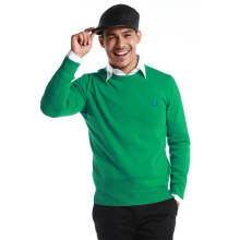 Fredperry Men- Green Round Neck Sweatshirt