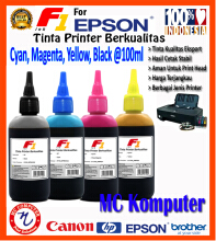 F1 Ink For Epson Dye 1 set CMYK @100 ml