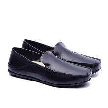 LIFE 8 Urban Casual Loafer Shoes in Coated Leather - Black