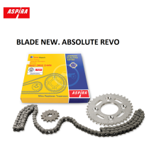 ASPIRA Paket Rantai (Drive Chain Kit) Motor BLADE NEW, ABSOLUTE REVO NEW - (H2-412PA-KWW-1100)