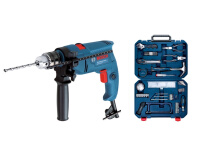 BOSCH Impact Drill GSB 550 + 108 Multifunction Toolkit Set