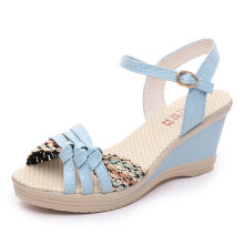 BESSKY Ladies Women Wedges Shoes Summer Sandals Platform Toe High-Heeled Shoes_