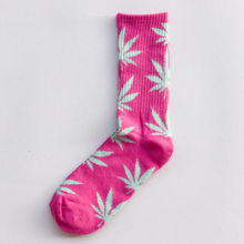 Cool My style CS-10 California skate city Maple leaf socks(about 19cm)-Pink