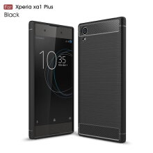 Smatton Case hp Sony Xperia Xa1 Plus Luxury Shockproof Case Carbon Fiber For Soft TPU Full Protect Ultra Thin Case shell