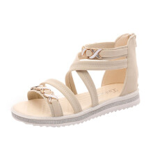 BESSKY Women Flat Shoes Summer Soft Leather Leisure Ladies Sandals_