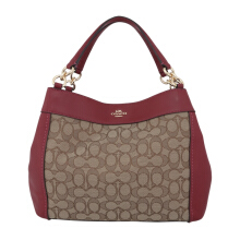 COACH F29548 Lexy Small Sign Khaki Cherry [COA01864B] Light Brown