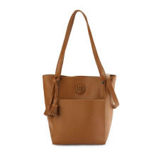 HUER Leiby Tote Bag With Tassel - Camel