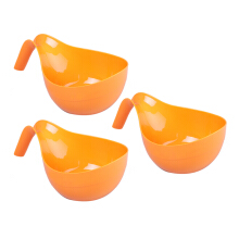 PLASTIK ONE Mangkok Gagang - MB-0004 - Orange Set of 3