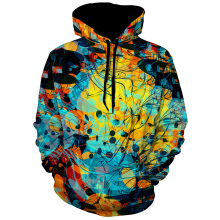 3D Abstract Print Pullover Hoodie