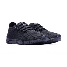 09599-Sport Knitted Fabric 3D Spring Sports Shoes Sneakers-Black