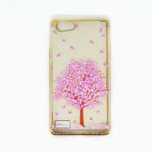 Softcase Shining Gold List Diamond Oppo A33 / Oppo Neo 7