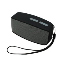Vinmori Portable Wireless Bluetooth Speaker Stereo MP3 FM Radio Speaker Subwoofer For Smartphone Tablet Laptop Grey