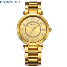 CRRJU Women Watch Famous Brand Fashion Stainless Steel Bracelet Quartz Wrist Watches For Women Montre Femme