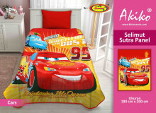 Selimut Akiko Sutra Panel 150x200 Cars - Red Red