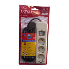 LOYAL LY-233 KB3 Stop Kontak Outbow + Saklar + Kabel 3M
