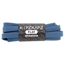 KIPZKAPZ FS48 Flat Shoelace - Blue Steel [8mm] Blue 115 Centimeter