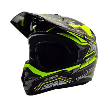 CARGLOSS MXC Motosport Helm Motocross - Yellow Deep Black