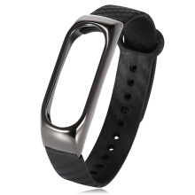 Wristband for Xiaomi Mi Band 2 Zinc Alloy + TPE Material Black