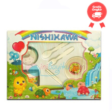 Nishikawa Baby Mini Feeding Set 1 Color White Age 0M+