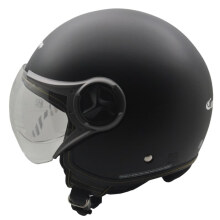 Cargloss YR Ghotic Helm Half Face - Deep Black SG