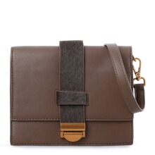 HUER Tyani Flap Sling Bag with Extra Strap - Brown