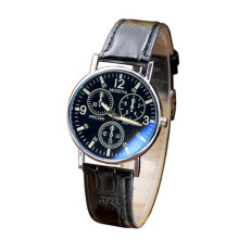 Men Luxury Leather Analog Quartz Business Wrist Watch