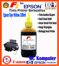 F1 Ink For Epson Dye Yellow 100 ml