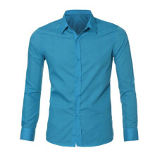 BESSKY Mens Luxury Stylish Casual Dress Slim Fit T-Shirts Casual Long Sleeve_