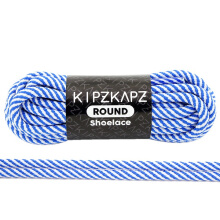 KIPZKAPZ RS52 Round Shoelace - Blue White Twist [4mm]
