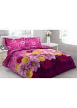 Sprei Bantal 2 Vito Disperse 180x200cm Chrysant Flower - Purple