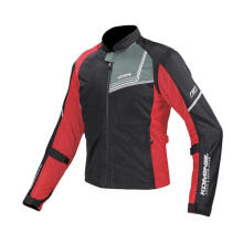 KOMINE JK-117 Gimon Protect Full Mesh Jaket Touring Pria - Black Red