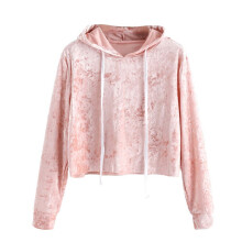 BESSKY Womens Long Sleeve Hoodie Sweatshirt Jumper Hooded Pullover Tops Velvet Blouse_