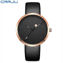 CRRJU Woman Watches Top Brand Fashion Leather Quartz  Ladies Wristwatch Female Waterproof Relogio Feminino