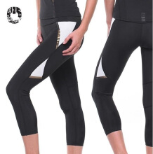 GRIPS Women Capri Leggings - BLACK