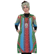 SHE BATIK Dress Batik Sinaran Pelangi