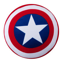 MARVEL Avengers Captain Amerika Round Cushion 37cm - Red/Blue