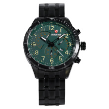 Expedition Man Chronograph Green Dial Black Stainless Steel [EXF-6720-MCBIPGN] Black