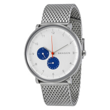 Skagen Hald White Dial Stainless Steel Mesh Bracelet Man Watch [SKW6187]