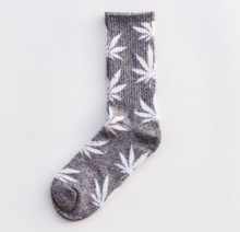 Cool My style CS-21 California skate city Maple leaf socks(about 19cm)-Grey