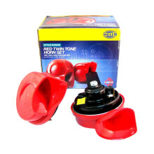 Hella Klakson Red Twin Tone Horn Set