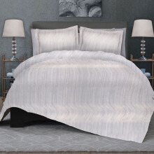 CELINA Sprei Set & Quilt Cover Single - Noosaville Abu - 100x200x40cm